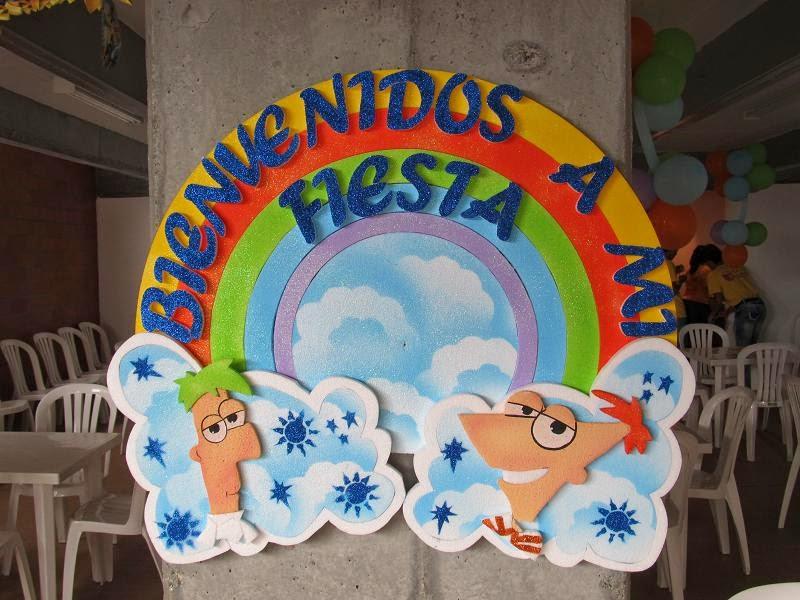 Fiestas Infantiles Decoradas con Phineas y Ferb, parte 1