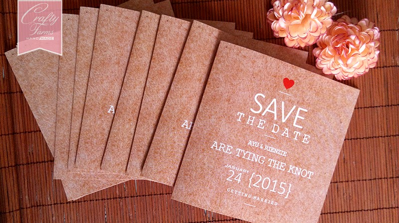 Rustic Theme Brown Wedding Card Printing