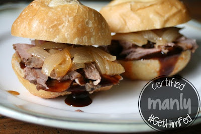Whiskey Steak and Onion Sliders at #GetHimFed from www.anyonita-nibbles.com