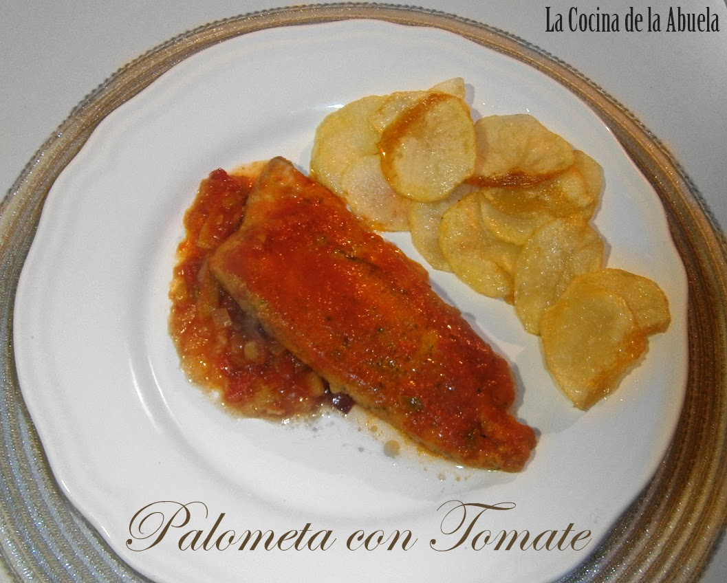 Palometa con tomate