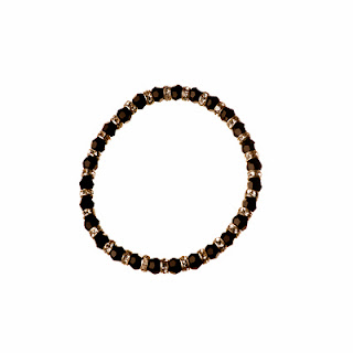 black bracelet, handmade bracelet, Elisha Francis London, Elisha Francis Jewellery, Christmas Gift
