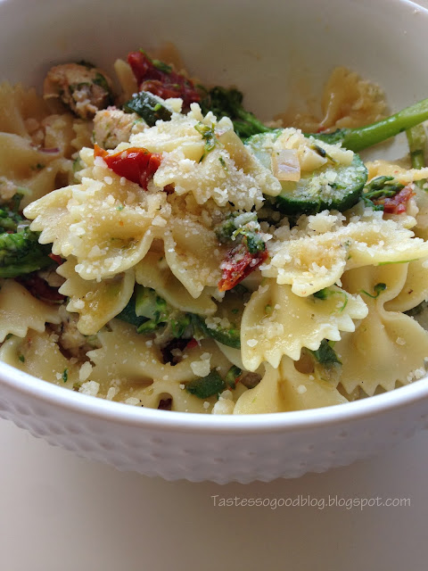 Chicken and Vegetable Pasta | Tastes so Good Blog
