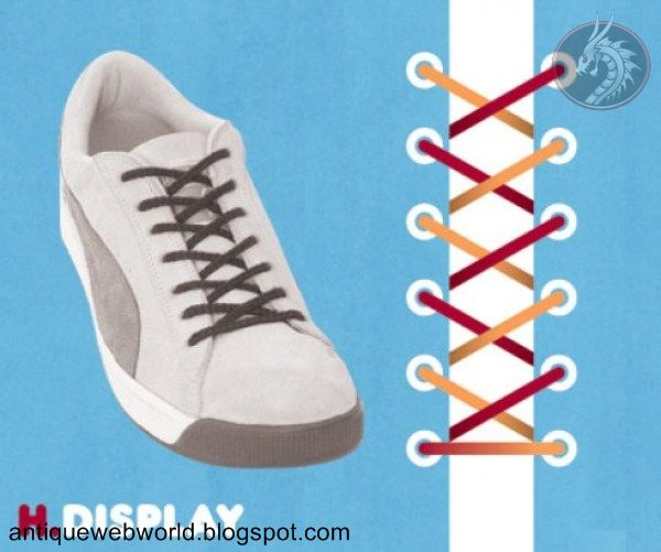 Antique web world: Different way to tie your shoelace