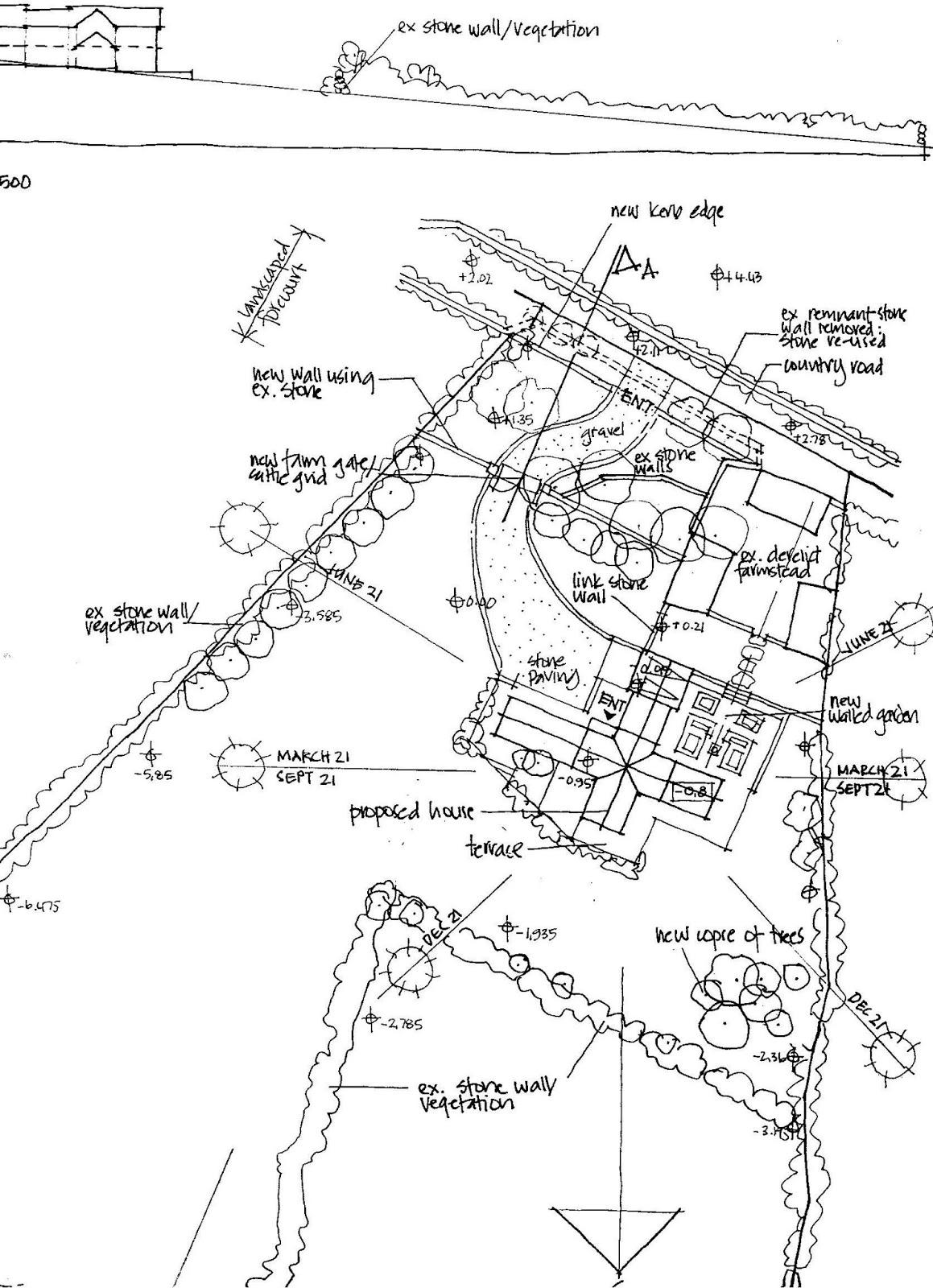Jennie Castle Architecture: Sketch Site Plan