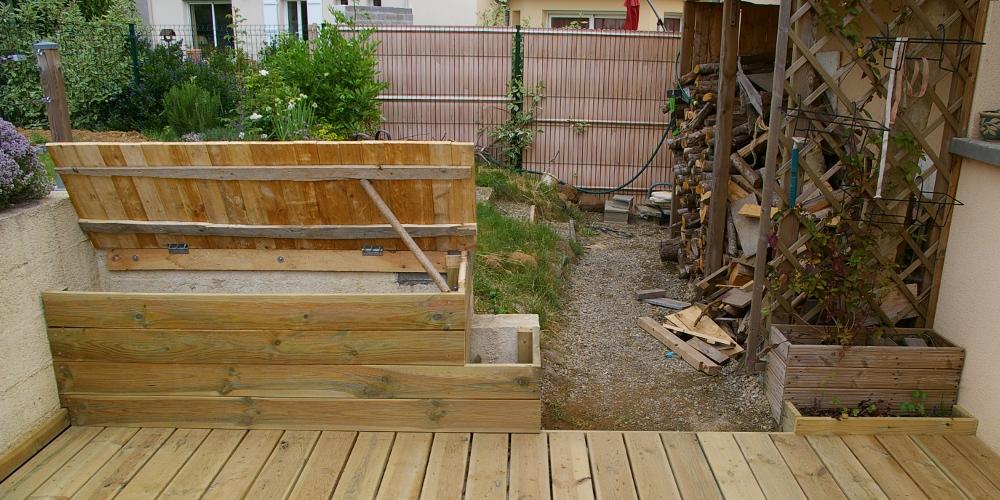 Recup de Sherwood Aménagement de terrasse