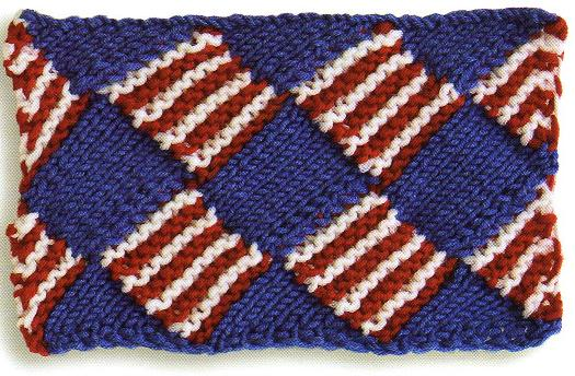 how to start entrelac knitting