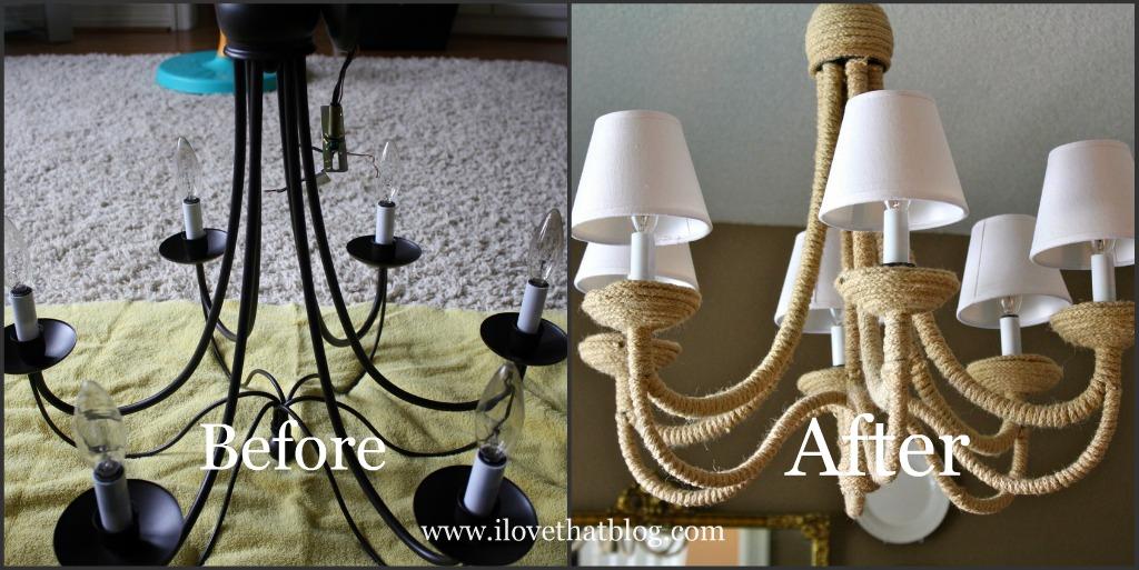 Rosa Beltran Design Diy Idea Rope Wrapped Chandelier