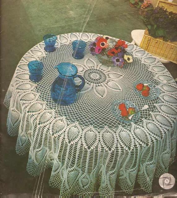 #1 Mantel Redondo a Crochet