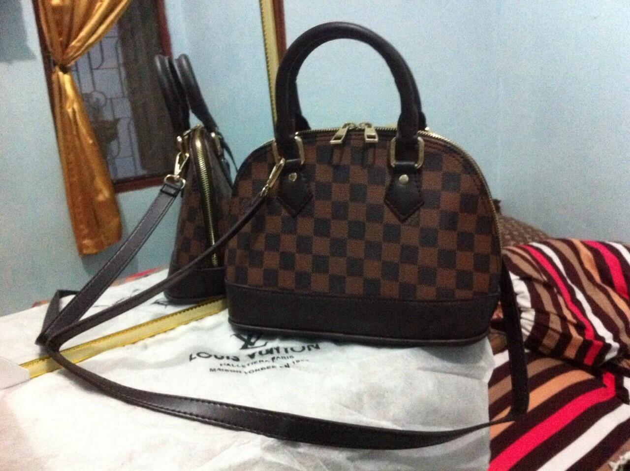 Rumah Tas Grosir Lv Alma Mini Damier Wanita Hand Bag