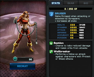 Marvel Avengers Alliance stats for Thundra