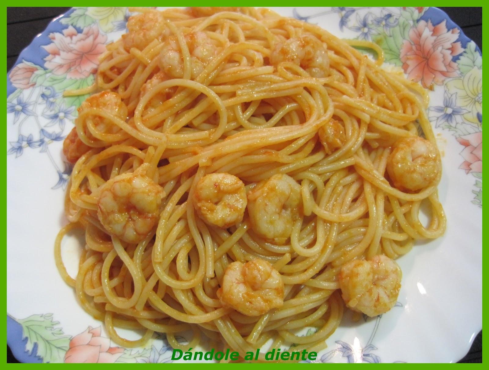 Great como cocinar espaguetis photos recetas de - Espaguetis con gambas y champinones ...