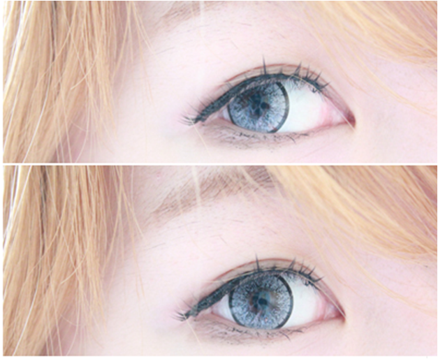 Dolly Eye Blytheye Grey colored contacts