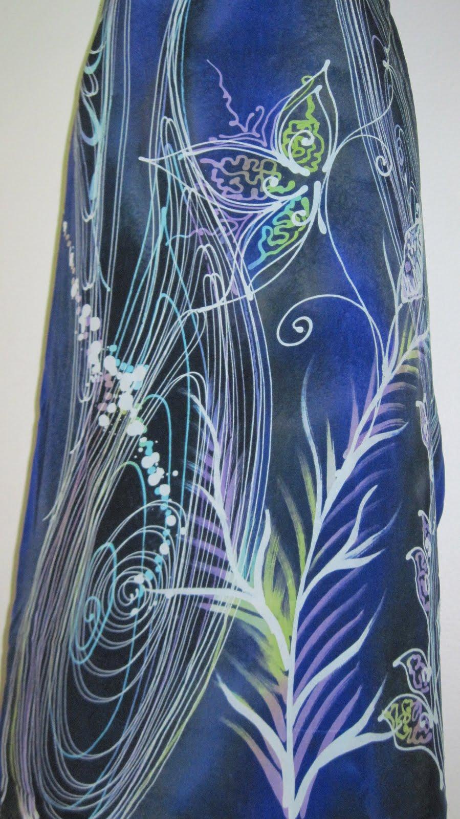 Batik Sutera Crepe Abstrak   Silky Batik Sutera Terengganu