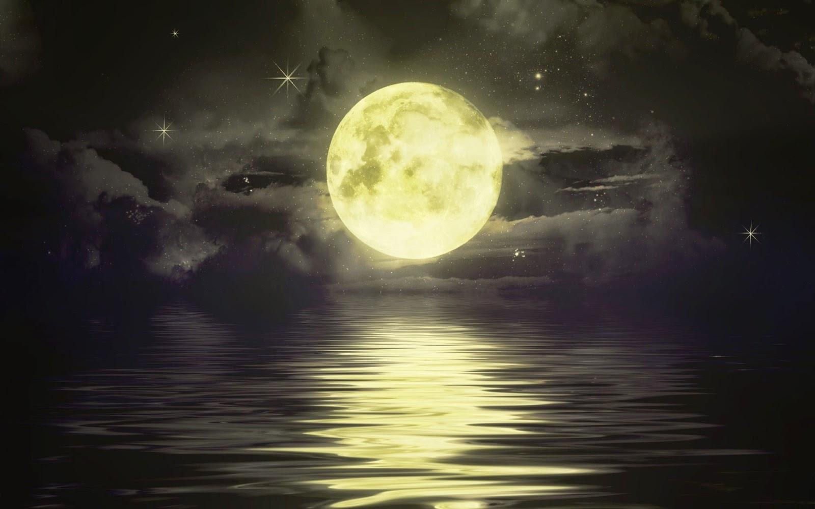 3D HD Wallpapers Beautiful Moon Sky