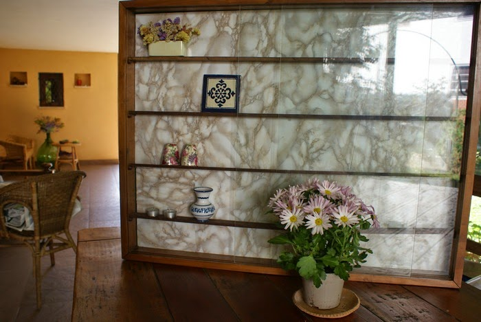 marbled display cabinet diy home