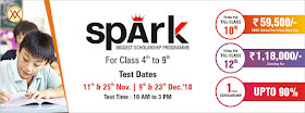 SPARK-BIGGEST SCHOLARSHIP PROGRAMME FOR CLASS 04thTO 09th