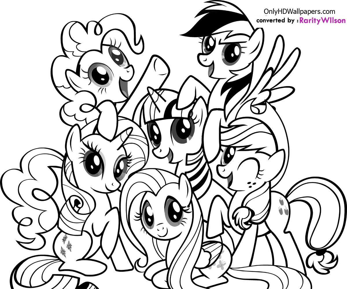 Candid image within pony printable coloring pages