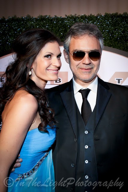 Celebrity Fight Night 2013 Red Carpet Andrea Bocelli Veronica Berti