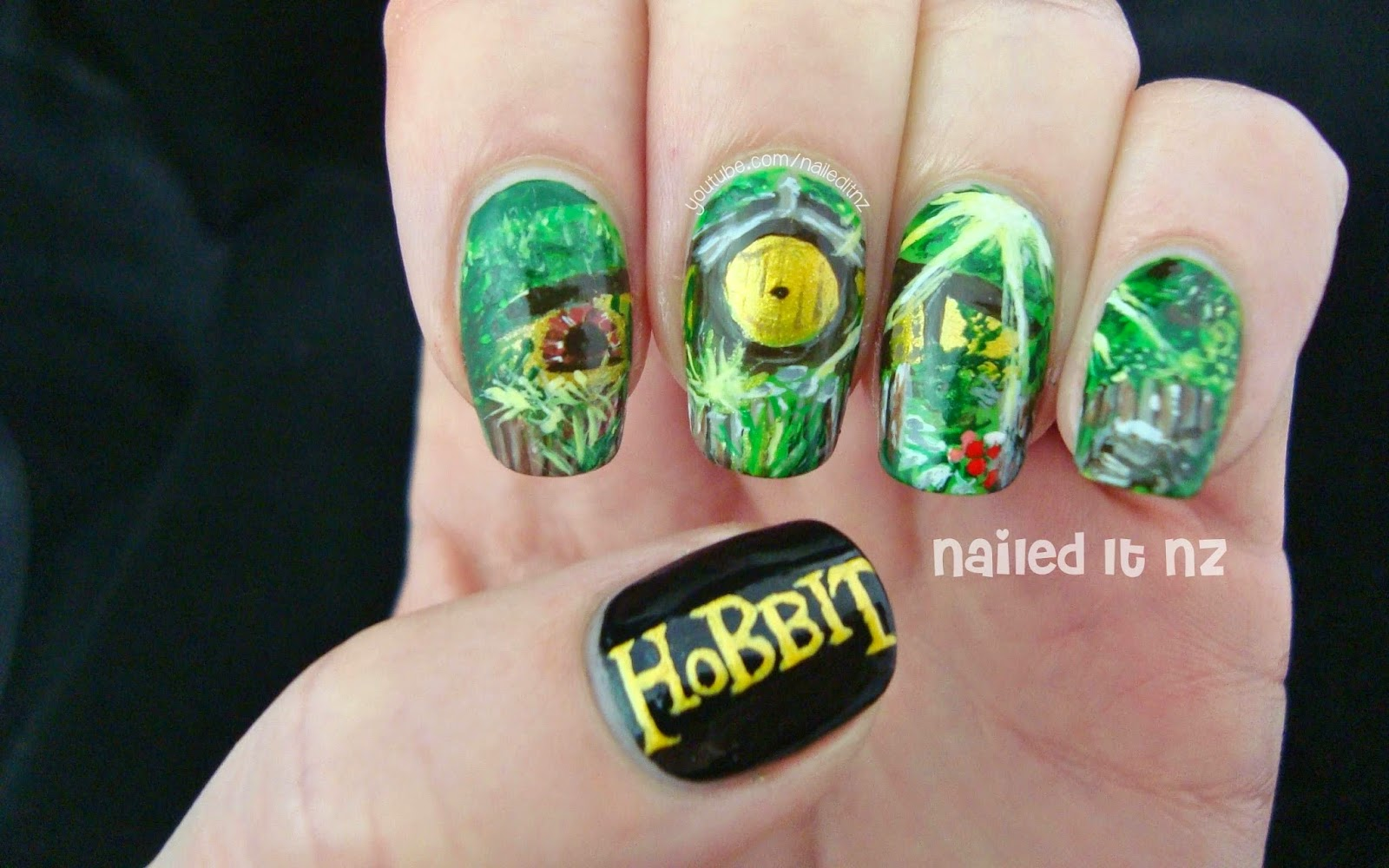The Hobbit Nail Art | The Shire