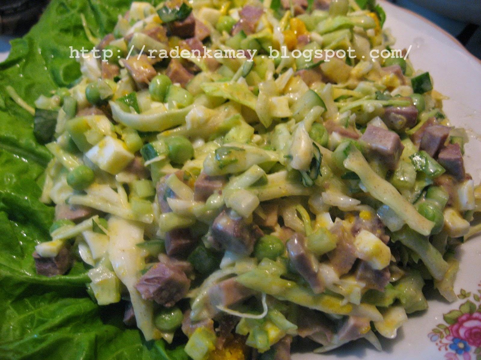 Салат с кабачками рецепт пошагово