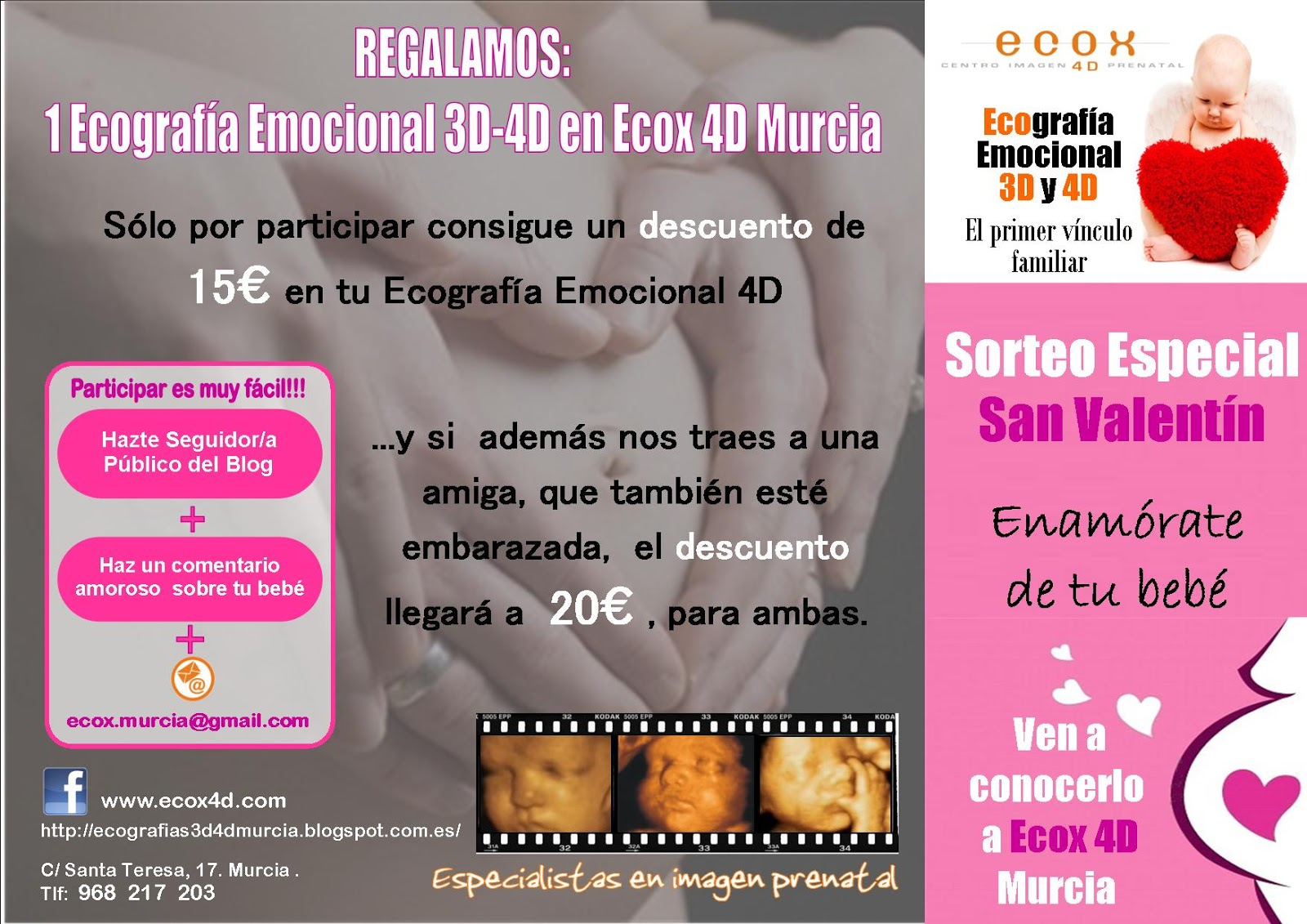 Imagen de SORTEO  SAN VALENTÍN. 1 Ecografia Emocional 3D-4D