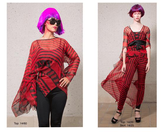 τα prints στη μόδα, silk shiffon, ρούχα με σιφόν, prints και μόδα, μωβ μαλλιά,  κόκκινο, μόδα, κολεξιόν,