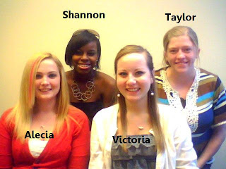 group pipcture of Alecia baxter, Shannon Watson, Taylor Davis, and Victoria Kaplan