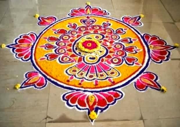 Freehand Rangoli Designs for Diwali 2013