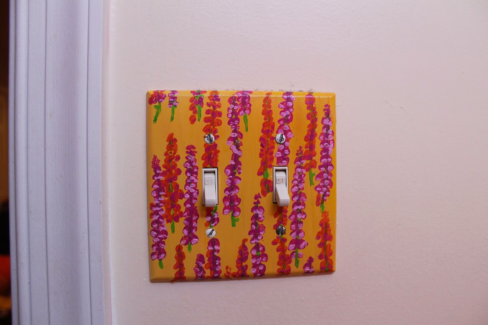 lilly pulitzer inspired light switch cover bathroom decor