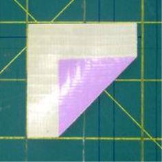 lipat lembar lakban kotak jadi segi 3