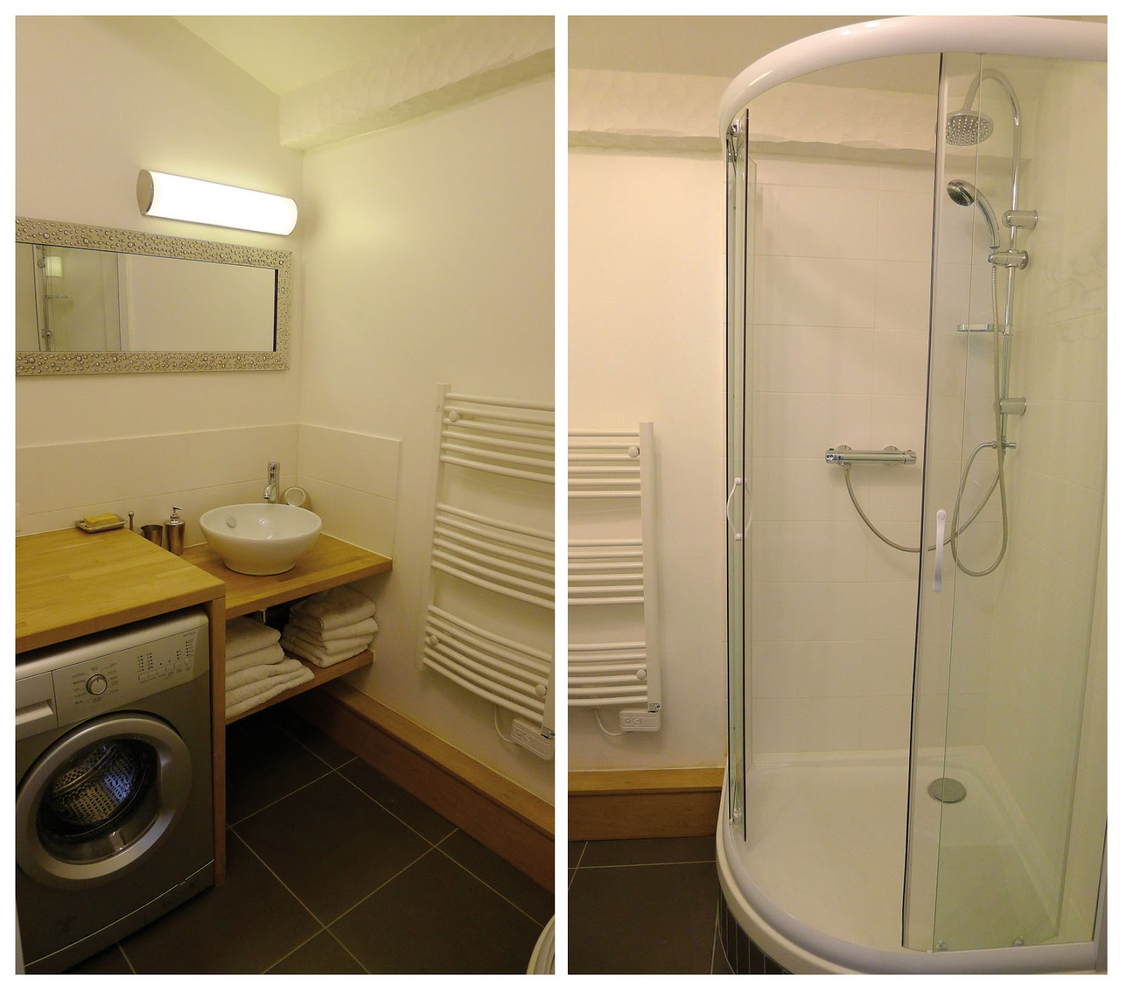 Modele salle de bain avec machine a laver salle de bains - Lave linge dans salle de bain ...