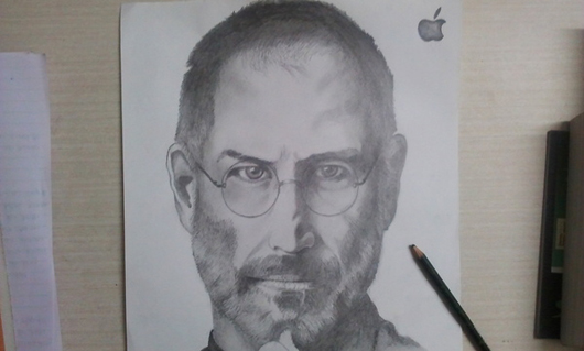 Art tribute to Steve Jobs