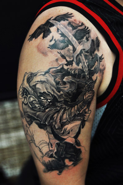Crow Ninja Tattoo