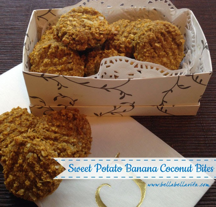 sweet potato banana coconut bites recipe, gluten free, bellabellavita