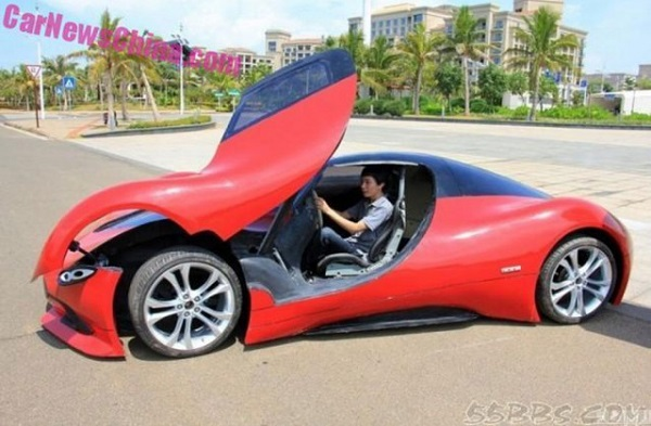 Chinese Students Make Electric Sports Car Speed ​​30 kph