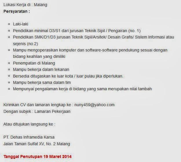 info-lowongan-kerja-di-malang-maret-2014