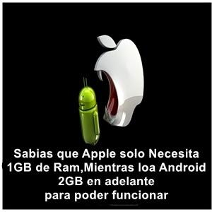 Memoria Ram Iphone y Android
