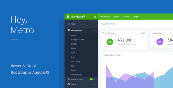 Bootstrap Web App Theme with AngularJS