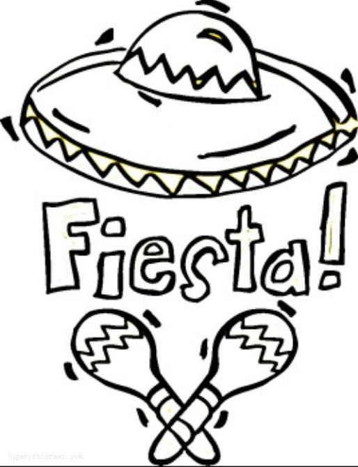 Dibujos para colorear de sombreros mexicanos - Imagui