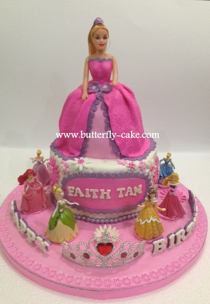 Butterfly Barbie Cake Images : Butterfly Cake: 3D Barbie Doll