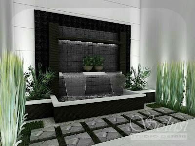 solusi studio desain: desain taman kolam minimalis