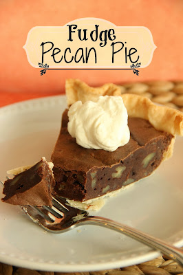 Fudge Pecan Pie  from Diary of a Recipe Collector