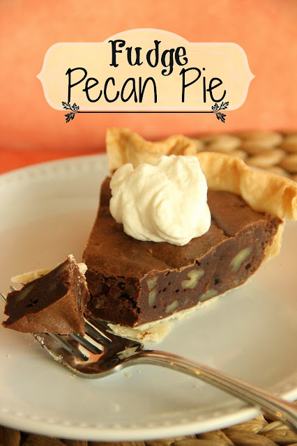 Fudge Pecan Pie - It's a chocolate lover's delight with a delicious fudge filling. It makes a perfect make ahead dessert!
