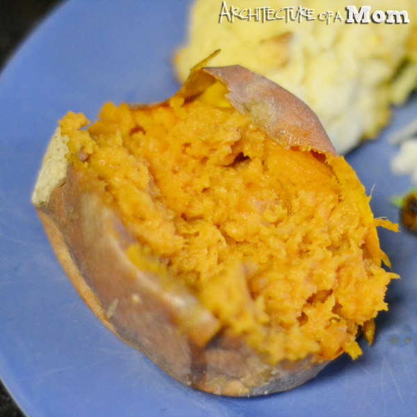 Peanut Butter Sweet Potatoes Closeup