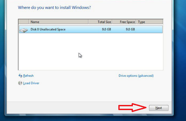 Upgrade Option se Window 7 Install Karen