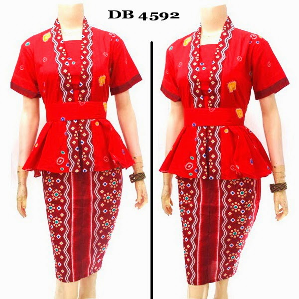 Baju Dress Batik motif jumputan