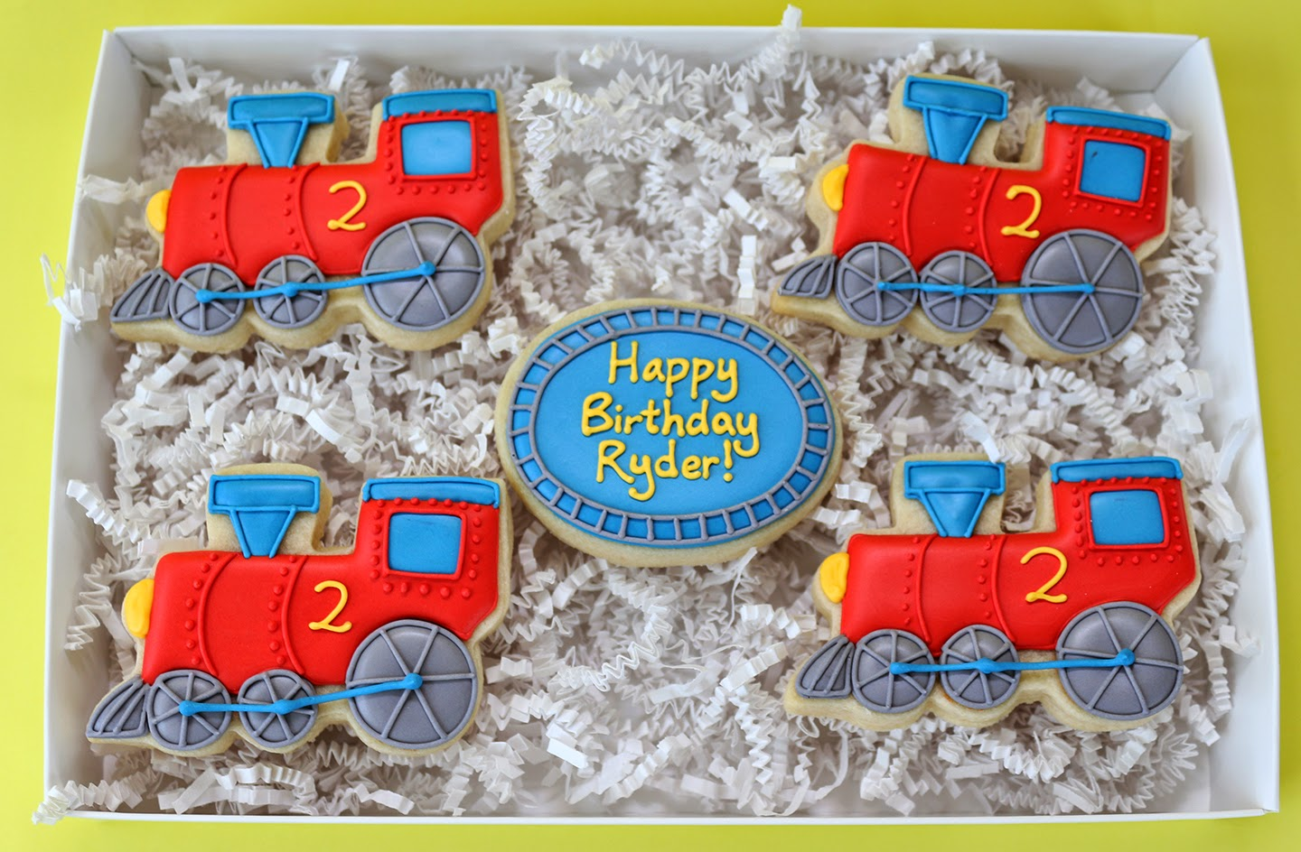 Train cookie gift