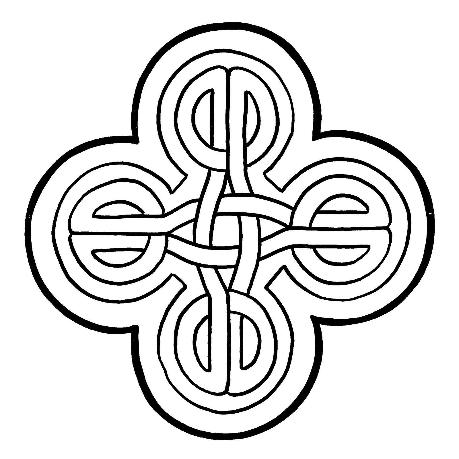 Mandalas Para Pintar: Cuatro nudos celtas entrelazados