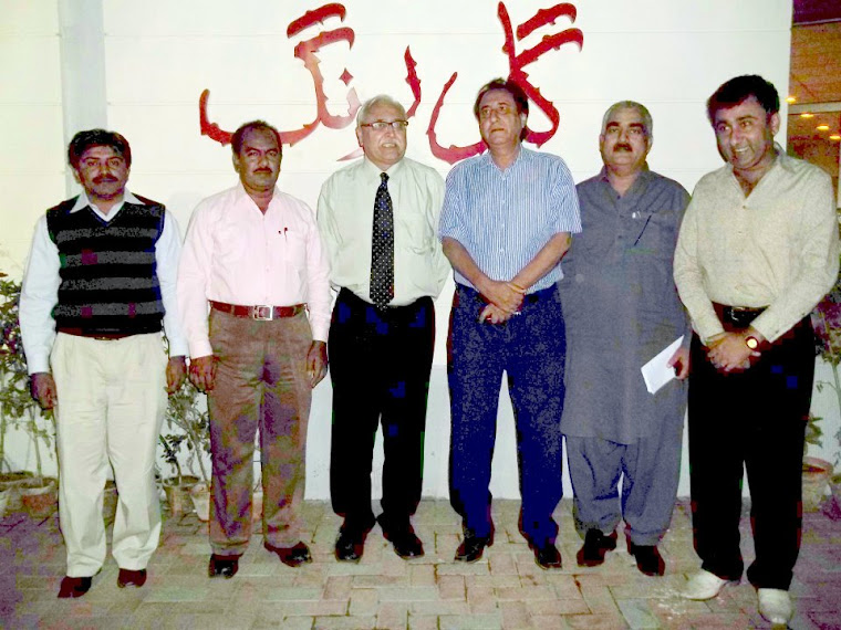 Zulfiqar behan,Dr.Kamal Jamro,Hidayat Baloch,Ayoub Khaikh and Mumtaz shar at arts council Karachi