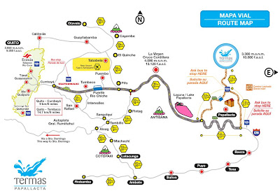 mapa como llegar a las termas de papallacta
